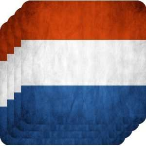 Rikki KnightTM Netherlands Flag   Square Beer Coasters