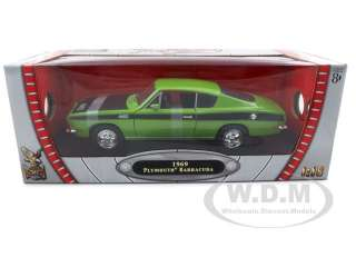 Brand new 118 scale diecast model of 1969 Plymouth Barracuda 440 die