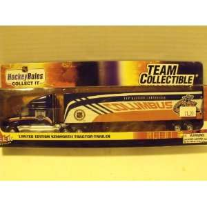 NHL 180 Scale Columbus Blue Jackets Kenworth Tractor Trailer Toys