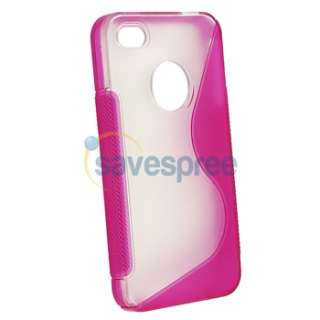 Rubber TPU Gel CASE Cover+PRIVACY FILTER for iPhone 4 G GS 4S