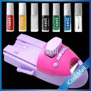 Nail Art Acrylic UV DIY Nail Printing Machine Stamping Set