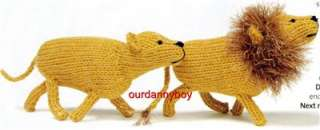 Toy Doll Knitting Pattern~ NOAHS ARK & ANIMALS~ Carry Around