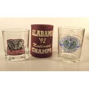 Alabama Football Hall of Fame & Drinking Glass & Bottle