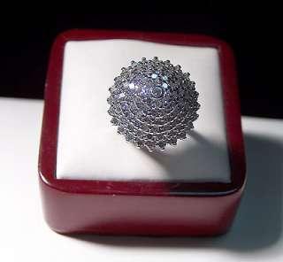 14K White Gold Mushroom Diamond Ring 2 carat