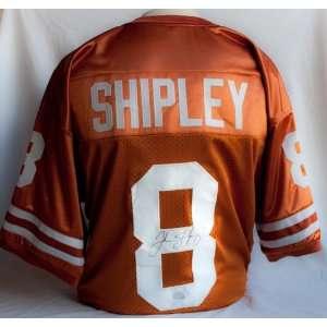 Jordan Shipley Signed Texas Longhorns Orange Jersey