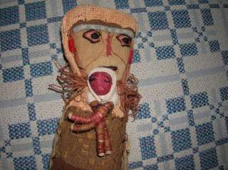 RARE Handmade Primitive Doll Mom & Baby Antique Burlap INDIAN Native