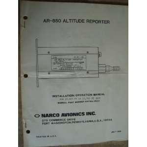 Narco Avionics   AR 850 Altitude Reporter   Installation / Operation