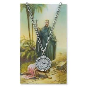 Gift Set PSD600FX St. Saint Francis Xavier Prayer Card Set Jewelry