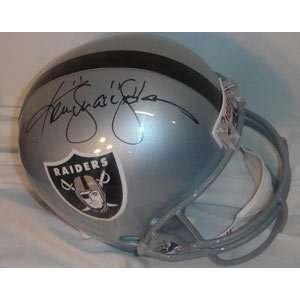 Ken Stabler Signed Helmet   Replica
