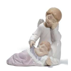 Lladro My Guardian Angel (Pink): Home & Kitchen