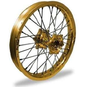 Pro Wheel MX Rear Wheel Set   19x2.15   Gold Rim/Gold Hub 24 22044 HUB