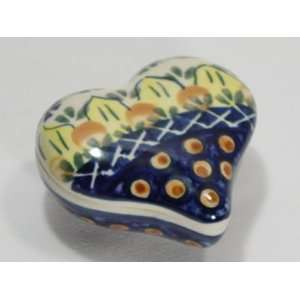 Polish Pottery Heart Box Sunflower wz901 30: Home & Kitchen