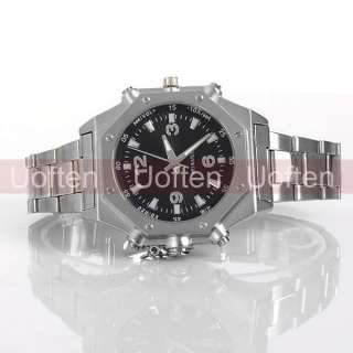 NEW 2GB  Player Voice Record Stainless steel Wrist watch For Man