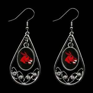 NCAA Central Missouri Mules Ladies Tear Drop Crystal Dangle Earrings