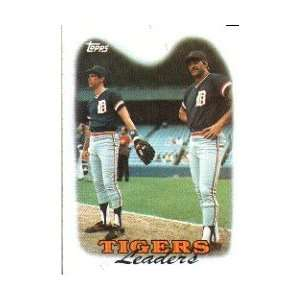 1988 Topps #429 Detroit Tigers Team Leaders Alan Trammell/Kirk Gibson