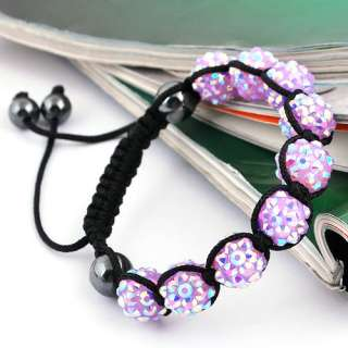 Braid Bracelets Bangles Chains Pave Resin (9p) Disco Ball Beads Hip