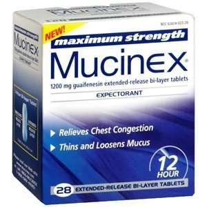 MUCINEX SE MAX STRENGTH 28TB: Health & Personal Care