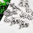 wholesale Tibetan Silver MIX ASSORTED Animal Charms pen