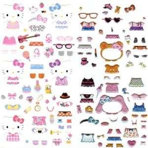 Original Sanrio Hello Kitty Design Dress up Stickers Toys & Games