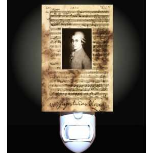 Mozart on Music Notes Decorative Night Light: Home