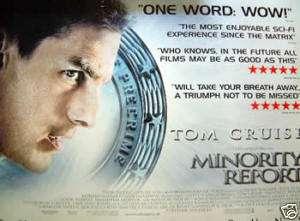 MINORITY REPORT uk quad movie poster TOM CRUISE