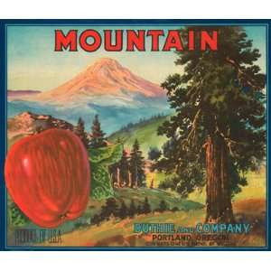 MOUNTAIN APPLE PORTLAND OREGON USA FRUIT CRATE LABEL