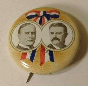 William McKinley 1972 Pinback Button