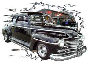 You are bidding on 1 1947 Black Plymouth Coupe Custom Hot Rod