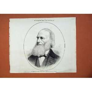 1878 William Cullen Bryant American Poet Journalist Art