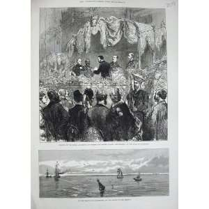 1876 Saugor Island Lighthouse Hooghly Aquarium Garden