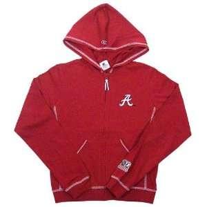 Alabama Crimson Tide Crimson Ladies Full Zip Fitted Hoody