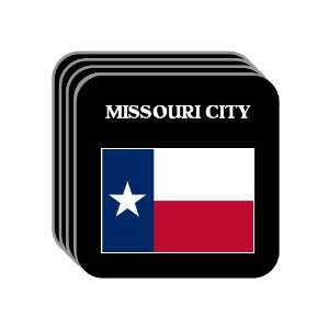 US State Flag   MISSOURI CITY, Texas (TX) Set of 4 Mini