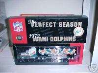 Miami Dolphins Perfect Season Die Cast Football Truck