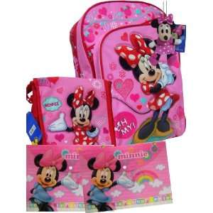 Adorable Minnie Mouse Large Backpack Matching Lunch Bag