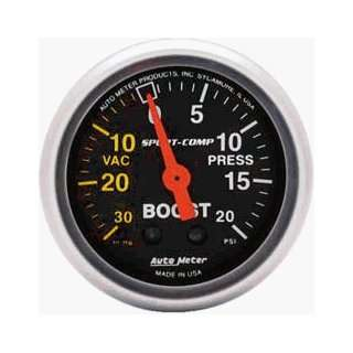 Auto Meter Mini 2 1/16 Sport Comp Boost/Vac Gauge Automotive
