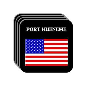 US Flag   Port Hueneme, California (CA) Set of 4 Mini