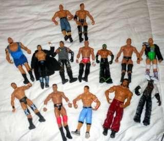 HUGE WWE TOY LOT~FIGURES, MASK, BELT~44 PIECES 1999 2010 VGUC~ROCK
