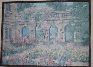 Impressionistic Garden Signed by Lee Reynolds