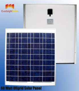 60 Watt Solar Panel 12 Volt Battery Charger Just Arrive