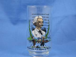 Mark Twain 1985 Tumbler Glass Burger King