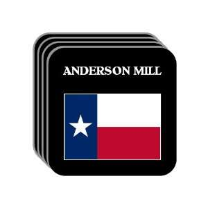 US State Flag   ANDERSON MILL, Texas (TX) Set of 4 Mini