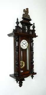 Antique German wall clock at 1900
