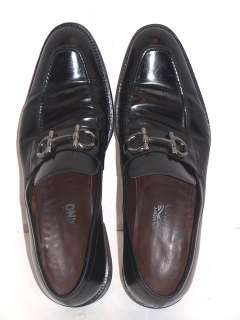 SALVATORE FERRAGAMO BLACK LOAFER SHOES 10 D MENS BIT ITALY