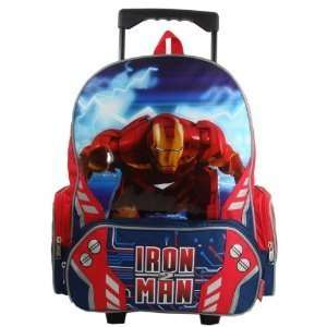 Marvel Iron Man Ii 16 Large Rolling Backpack Toys