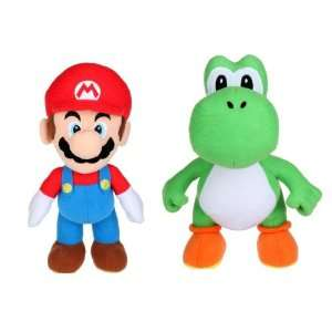 Super Mario Bros. Mario and Yoshi 6 Toy Plush Set Toys & Games