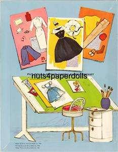 Vintage BARBIE KEN MIDGE PAPER DOLL LSER RPRO FREESHW/2