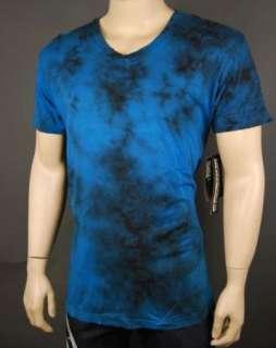 NWT Mens Affliction Live Fast Blue V Neck Vintage T Shirt XL