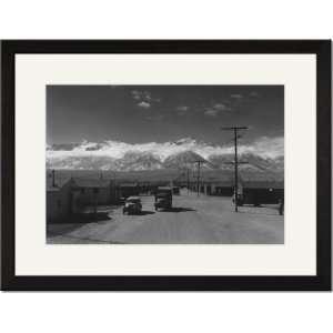 /Matted Print 17x23, Manzanar street scene, spring