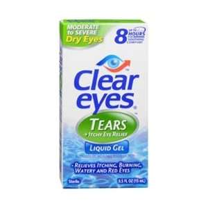 Clear Eyes Tears Plus Itchy Eye Relief Liquid Gel Drops