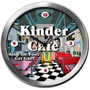 KINDER 14 Inch Cafe Metal Clock Quartz Movement: Kitchen